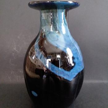 Daniel Edler studio art glass 1972 melon vase - Art Glass