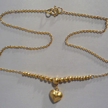 Golden heart necklace - Fine Jewelry