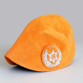 Space-Age 1968 EL AL Stewardess Orange Hat - Womens Clothing