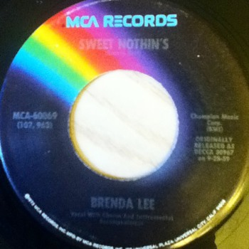 Brenda Lee 45 Record - Records