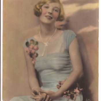 Early Color Photograph of Actress Dorothy Mackaill by Witzel Hollywood Photography