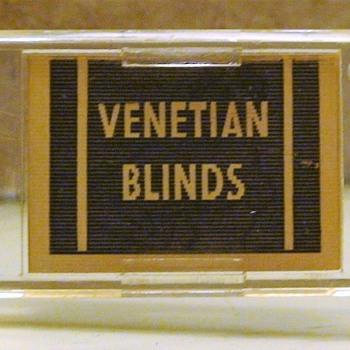 Risque Advertisement Letter Opener Juniata Venetian Blind Co. McKeesport, PA
