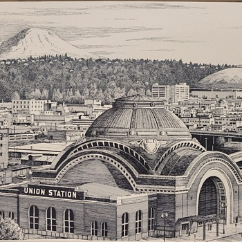 """Three Domes Tacoma"" Print by Tom Pickerel - Posters and Prints"