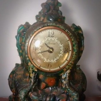 The Oddball Clock-Green Lucite