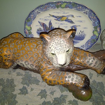 Huge Panther Statue - Pottery