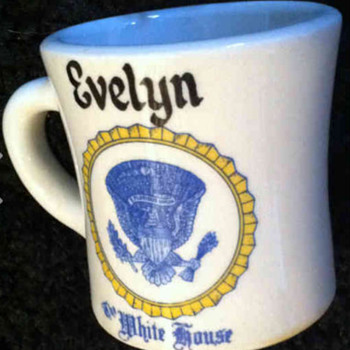 Evelyn Lincoln coffee mug - Advertising