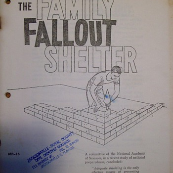 "Family ""Fallout"" Shelter Plans - Military and Wartime"