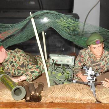 GI Joe Green Beret Machine Gun Outpost Set 1966 - Toys