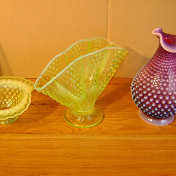 OPALESCENT HOBNAIL - Glassware