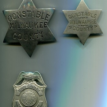 Milwaukee Constable Badges - Medals Pins and Badges