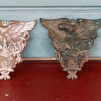 1933 & 1935 USNA Bronze Emblems and foundry casts - Military and Wartime