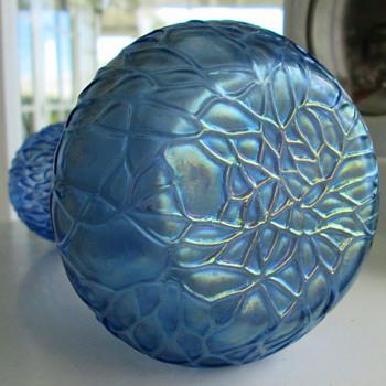 Rindskopf Martele Violet  Blue Vase - Art Glass