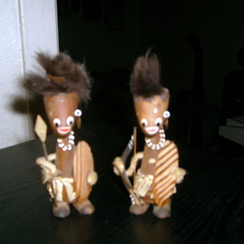 Little Wooden Tribal Dolls - Dolls