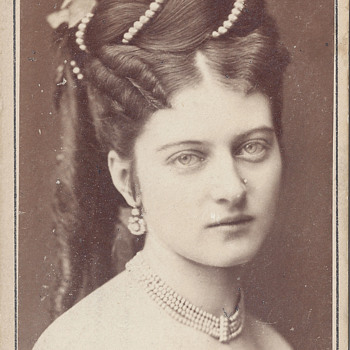 Johanna Erdödy Wife of Béla Széchenyi for Charity Play CDV by Adèle of Wien, Austria - Photographs