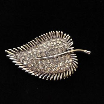 Trifari Pave Leaf