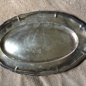 Vintage French Christofle Silver Plate Platter