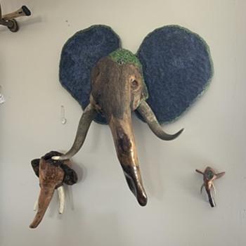 Burl elephant  - Fine Art