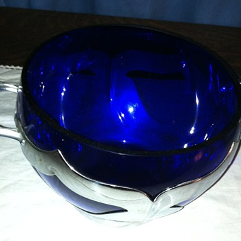 Farber Brother's Cobalt Ice Container - Glassware