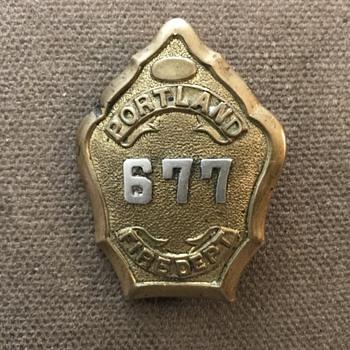 Portland fire dept badge  - Firefighting