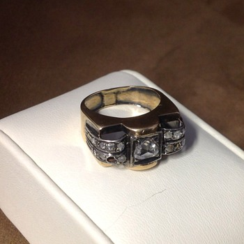 Antique Rose Cut Diamond & Gold Ring  - Fine Jewelry