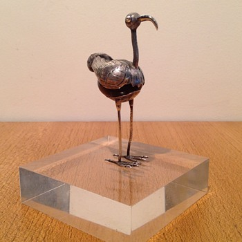 "MEXICAN SILVER AGATE BIRD ""I.V.S."" MYSTERY - Silver"