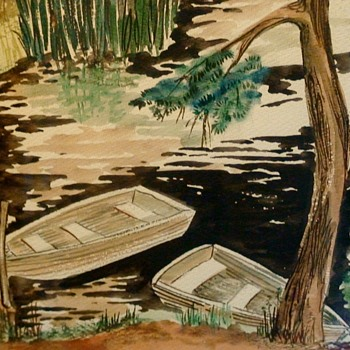 Water Color & Ink Painting By Dona Goer Pittsburgh Center for the Arts Artist of the Year in 1986 - Fine Art