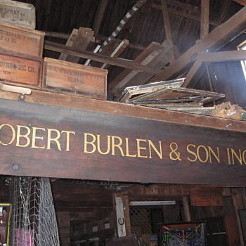 Robert Burlen & Son Bookbinders Sign - Signs