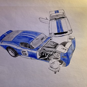 Cobra Mustang  concept watercolor - Fine Art