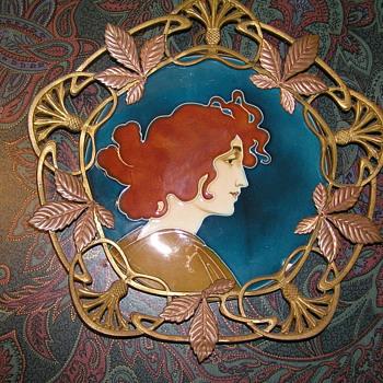 C.S. Luber Art Nouveau Wall Plaques