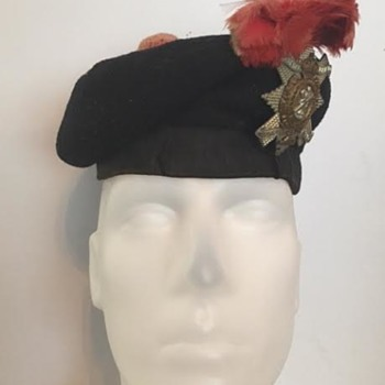 WWI Black Watch Balmoral Bonnet w/ Hackle and Badge