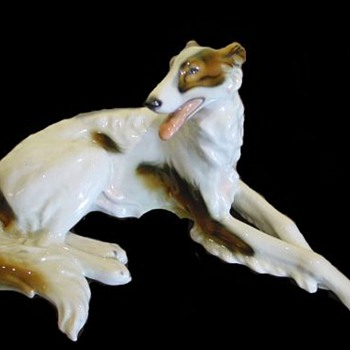 """Redux"" Wein ""Keramos"" Wolf & Sons Co./ Flamingos and Borzoi Figurines / Circa 1920's - Figurines"