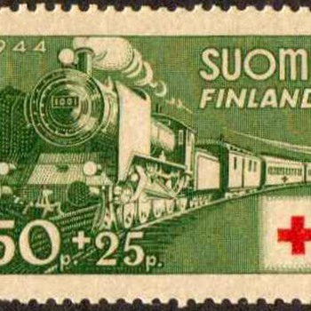 "1944 - Finland ""Red Cross"" Postage Stamp - Stamps"