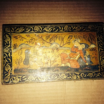 Hand painted Chinese wooden box - Asian