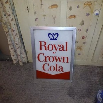 Royal Crown Cola Vending Machine Sign - Signs