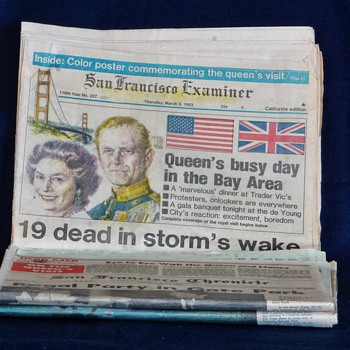 Queen of England Commemorative Newspapers - Paper