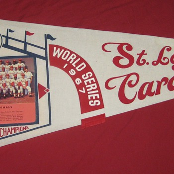 1967  STL Cardinals National League Champions Photo Pennant