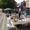 Historic photos. Flea market at Gammel Strand, Copenhagen, October 2nd 2009.