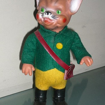 Rubber head wind up Cat Puss in Boots toy - Toys