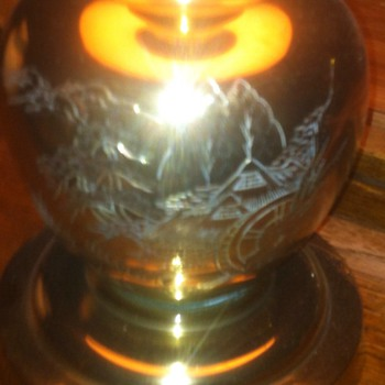 Old Brass Lamp I found 41 years ago in basement of old house, dirt floor.    - Lamps