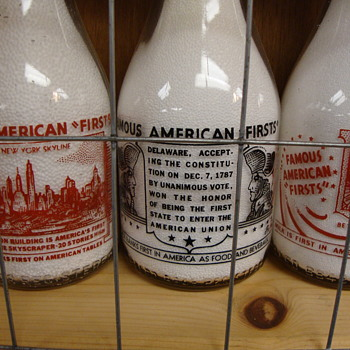 """""""Famous American Firsts"""" Milk Bottles................"""