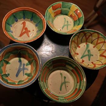five #4 bowls.