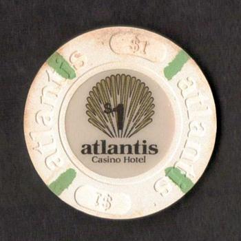 Atlantis Casino Hotel - $1 Gaming Chip - Games