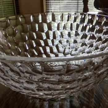 Interesting Crystal Bowl - Tiffany or Not? - Glassware