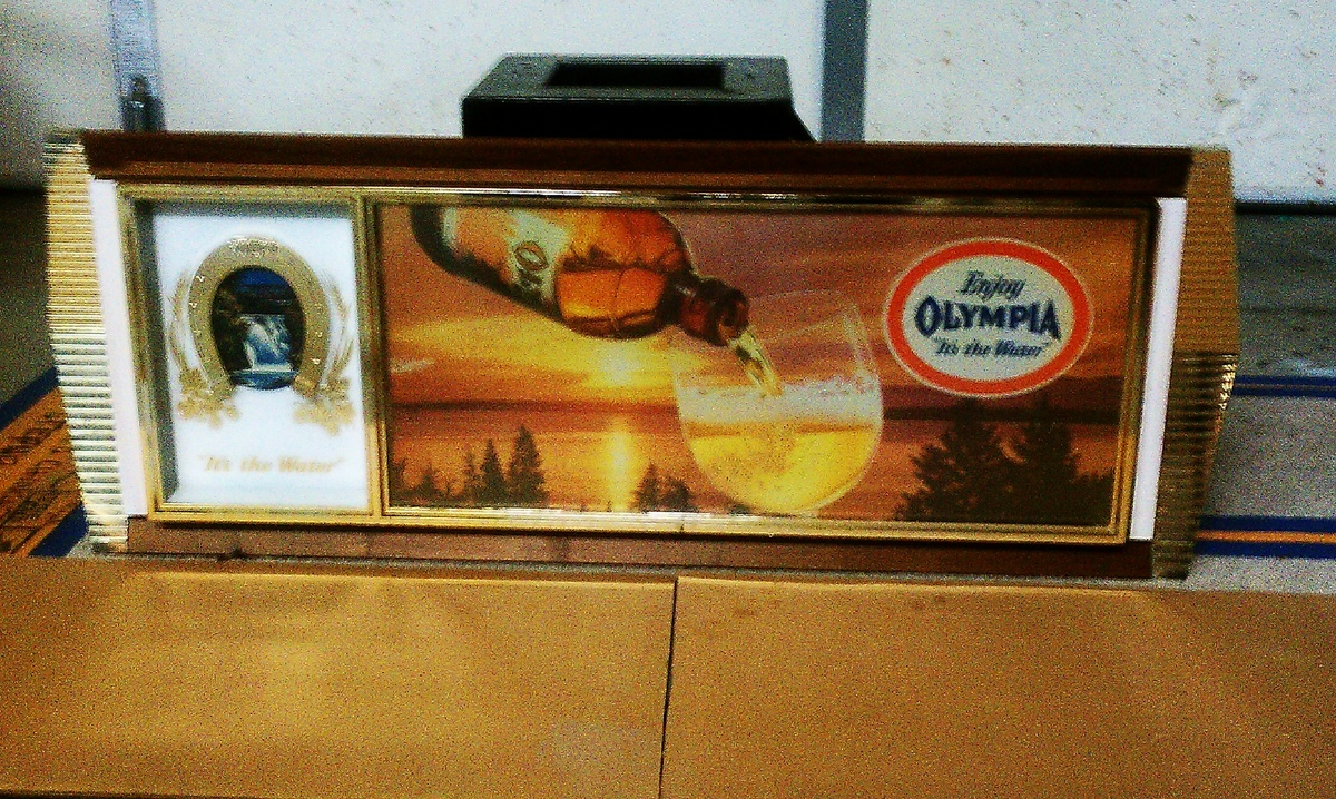Olympia beer sign