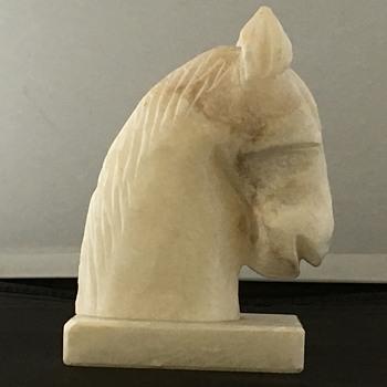 Marble horse head sculpture  - Fine Art