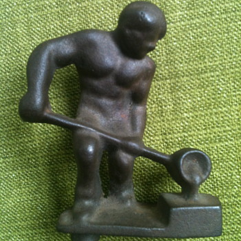 Cast Metal Steel Worker Figure - Toys