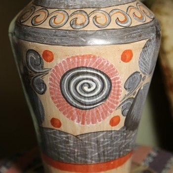 Large and Old Tonala Vase / Urn - Pottery