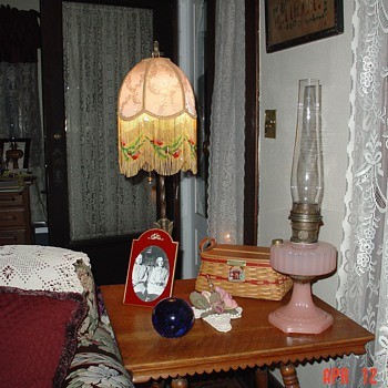 Old Bridge Floor Lamp...Hand Made Shade - Lamps