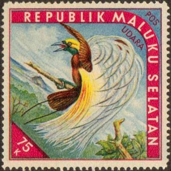 "1952 - So. Moluccas ""Birds of Paradise"" Cinderella Stamps - Stamps"