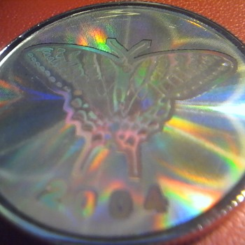 Butterfly Hologram Silver Coin - World Coins